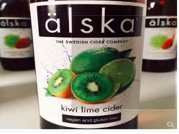 英国进口 水果酒 艾斯卡alska奇异果青柠水果酒500ML 单瓶